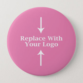 Pink Feminine Logo Button Template