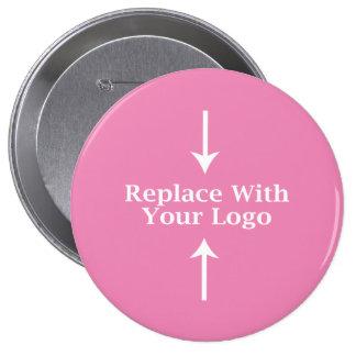 Pink Feminine Logo Button Template