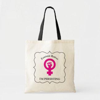 Pink Feminist Retiree | I'm Persisting Tote Bag