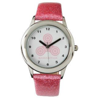 Pink Fidget Spinner Design Kids watch