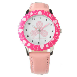 Pink Fidget Spinner Design Kids watch
