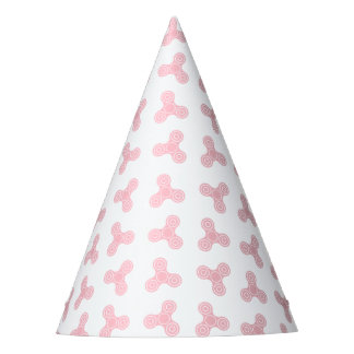 Pink Fidget Spinners Design Party Hat