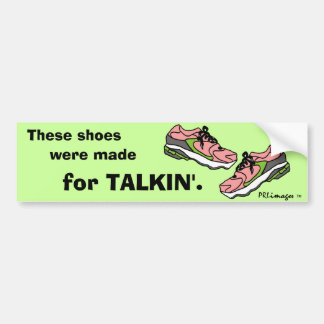 Pink Filibuster Shoes Bumper Sticker