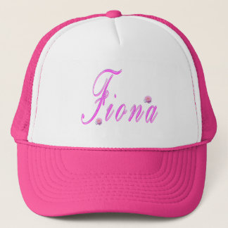 Pink Fiona Name Logo, Trucker Hat