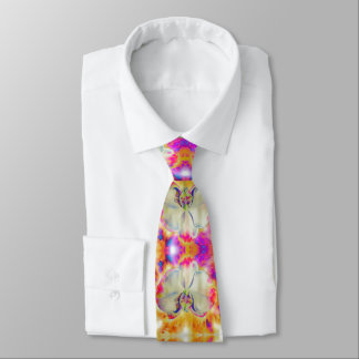 Pink Fire Orchid Tie