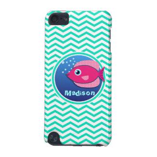 Pink Fish Aqua Green Chevron iPod Touch 5G Covers