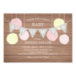 Pink Flags n Fluffs - Baby Shower Invitation