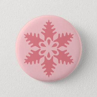 Pink Flake 7 6 Cm Round Badge