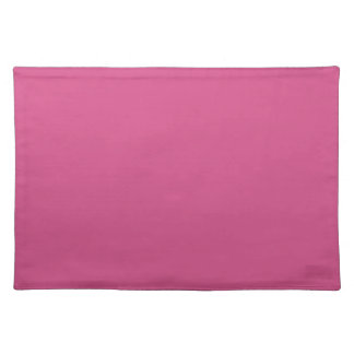 Pink Flambe. Elegant, Simple Fashion Solid Color Placemat