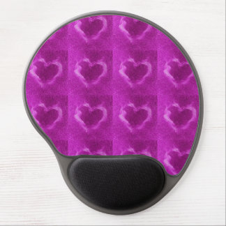 pink flame hearts gel mousepads