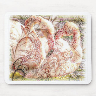 Pink Flamingo Art Mouse Pad