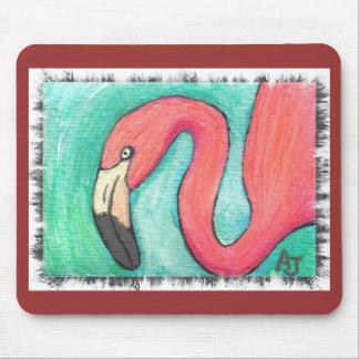 Pink Flamingo - artsy mousepad