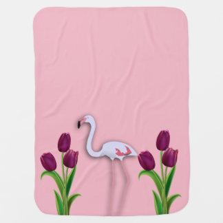 Pink Flamingo Baby Blanket