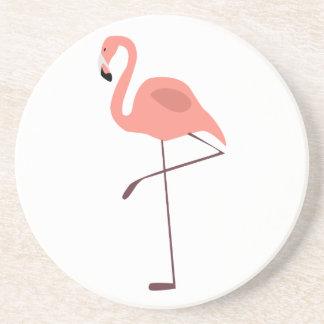 Pink Flamingo Bird Illustration Coasters