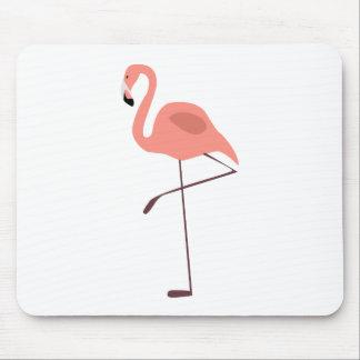 Pink Flamingo Bird Illustration Mousepads