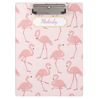 Pink Flamingo Bliss Clipboard