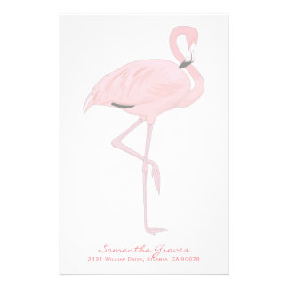 Pink Flamingo Custom Stationery