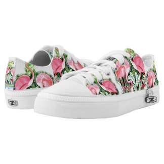 Pink Flamingo Design Sneakers