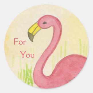 Pink Flamingo for you sticker