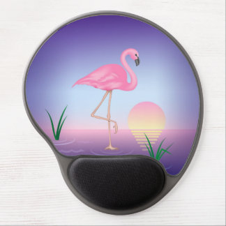 Pink Flamingo Gel Mouse Pad
