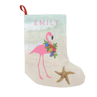 Pink Flamingo Girls Beach Christmas