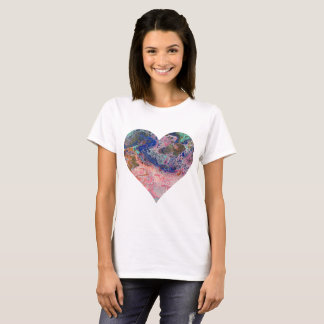 Pink Flamingo Heart T-Shirt