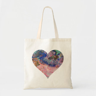 Pink Flamingo Heart Tote Bag
