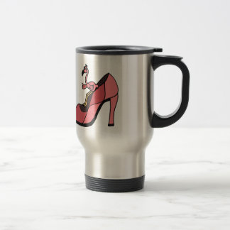 Pink Flamingo in a Shoe Design Coffee Mug