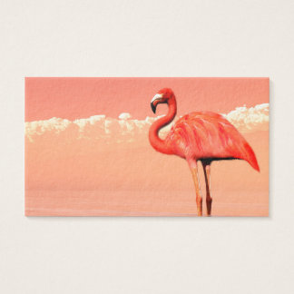Pink flamingo in the water - 3D render Business Card