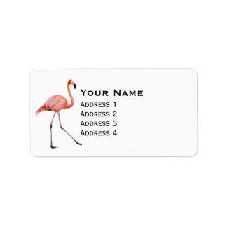 Pink Flamingo Label