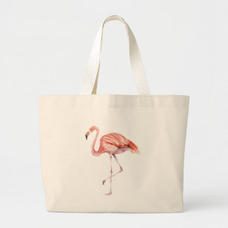 Pink Flamingo Large Tote Bag