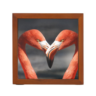 Pink Flamingo Love Desk Organiser