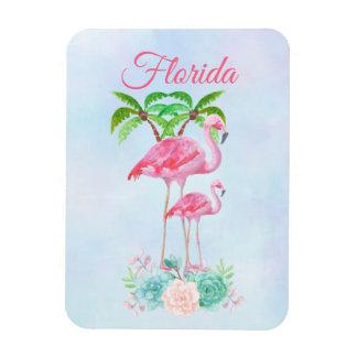 Pink Flamingo Momma & Baby Florida Magnet