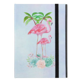 "Pink Flamingo Momma & Baby with Palm Trees iPad Pro 9.7"" Case"