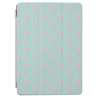 Pink Flamingo on Teal Seamless Pattern iPad Air Cover