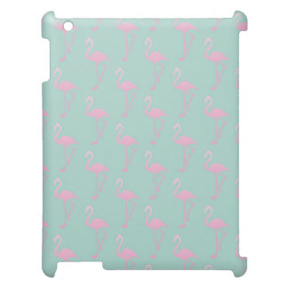 Pink Flamingo on Teal Seamless Pattern iPad Case