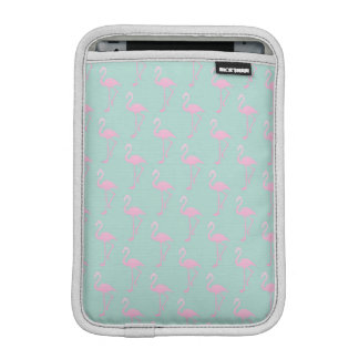 Pink Flamingo on Teal Seamless Pattern iPad Mini Sleeve