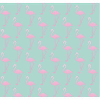 Pink Flamingo on Teal Seamless Pattern Photo Sculpture Badge