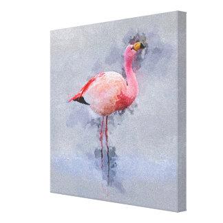 Pink Flamingo Painting Canvas Print