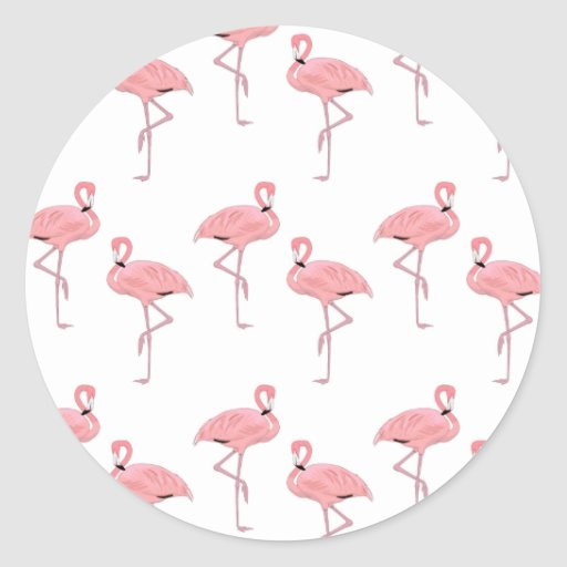 pink flamingo pattern stickers