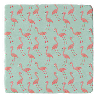 Pink Flamingo Pattern Trivets