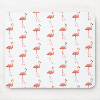 Pink Flamingo Simple Pattern Mouse Pad