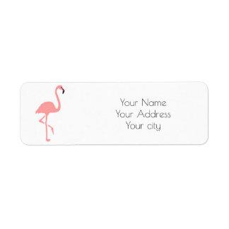 pink flamingo tropical return address label