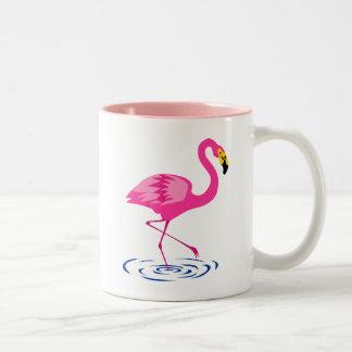 Pink Flamingo Two-Tone Mug