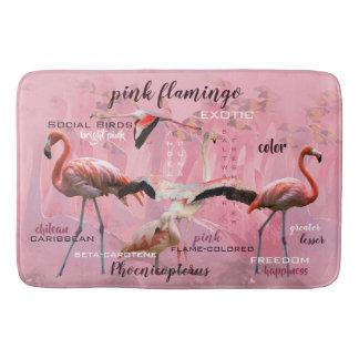 Pink Flamingo Typography | Customized Bath Mat