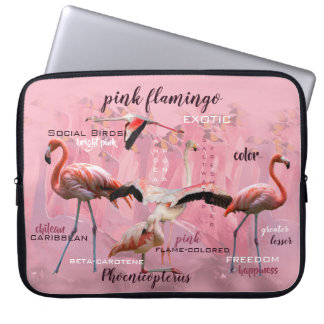 Pink Flamingo Typography | Customized Laptop Sleeve