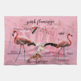 Pink Flamingo Typography | Customized Tea Towel
