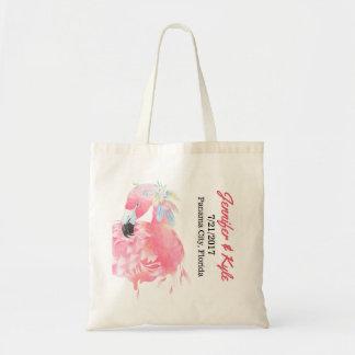 Pink Flamingo Wedding favour Tote Bag