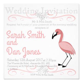 Pink Flamingo Wedding Invitation (Customisable)