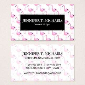 Pink Flamingos 2 Business Card